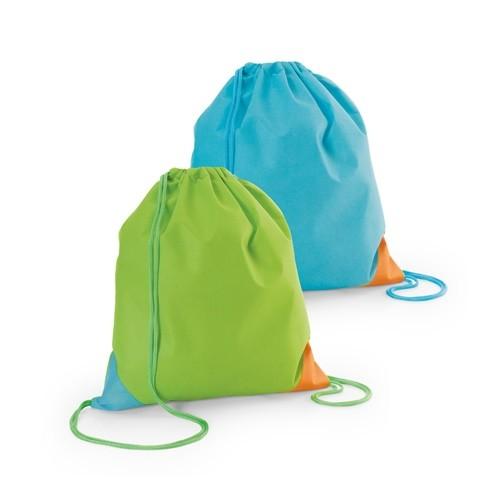 BISSAYA. Drawstring bag in lime-green
