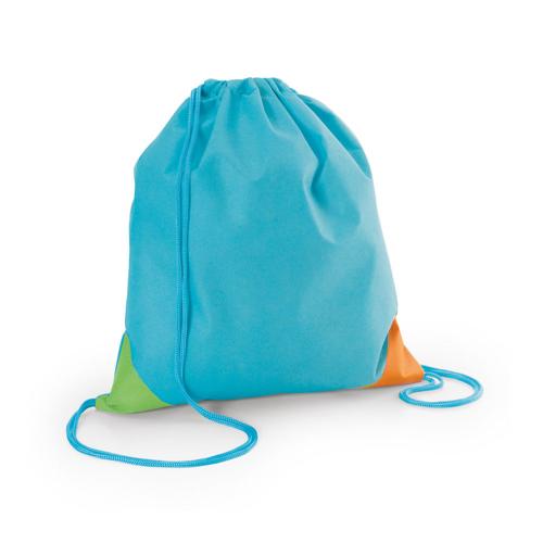 BISSAYA. Drawstring bag in cyan