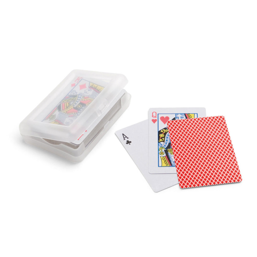 JOHAN. Pack of 54 cards in red