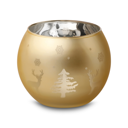Adeline. Christmas candle holder in gold