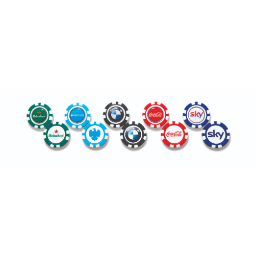 Plastic Pokerchip with 25 mm removable ball marker