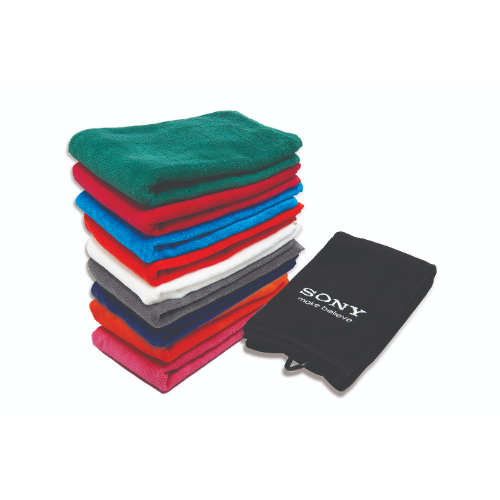 Embroidered Velour Tri-fold Towel