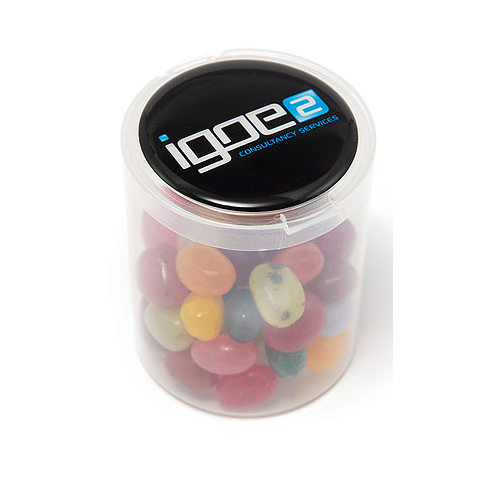 Jelly Beans Loose In A Clear Tub