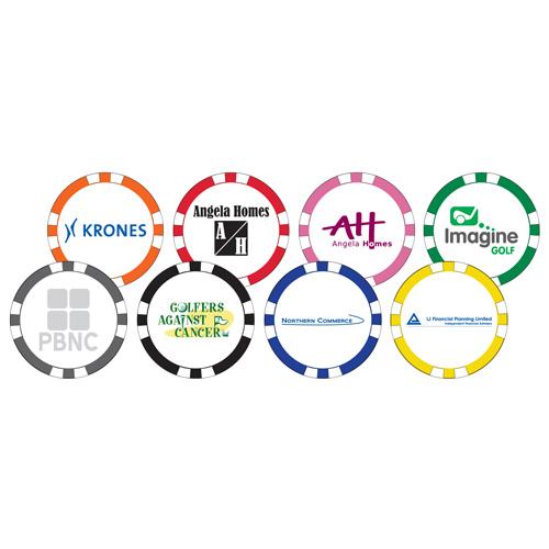 8 Stripe Poker Chip Markers