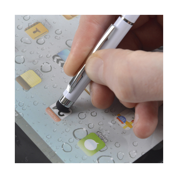 SoftTop Stylus Metal Pens in white