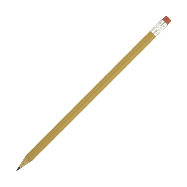 Hb Rubber Tipped Pencils in gold