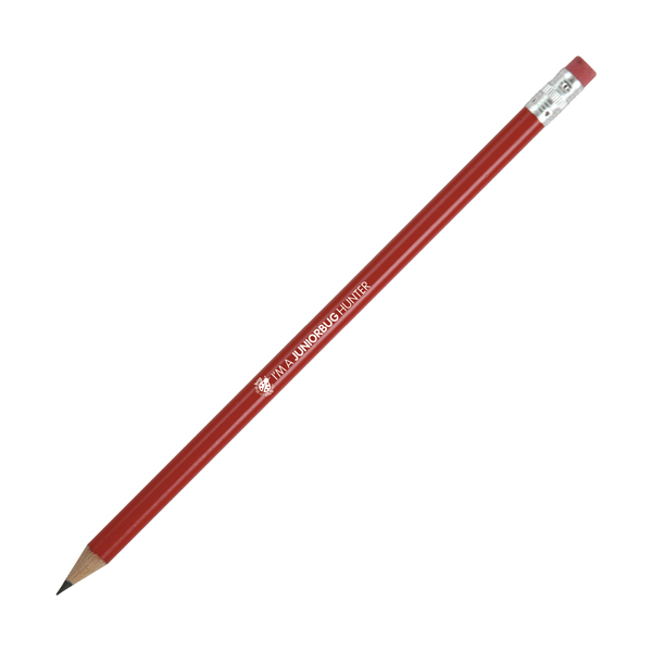 Hb Rubber Tipped Pencils in red
