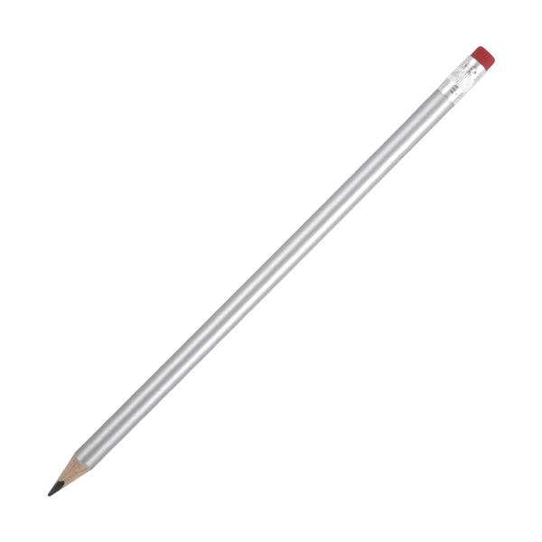 Hb Rubber Tipped Pencils in silver