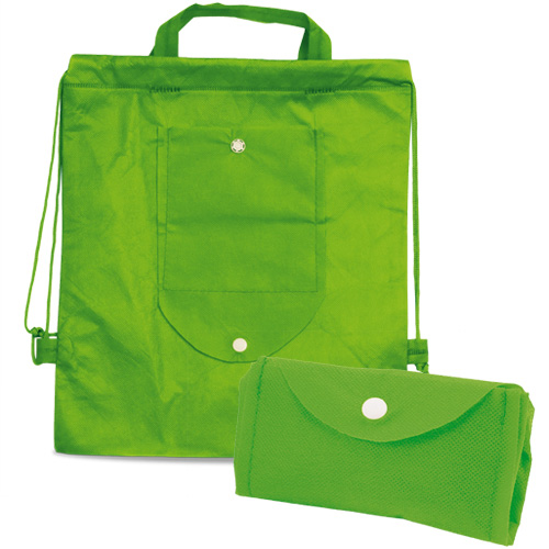 Foldable Drawstring Bag Nomi in green