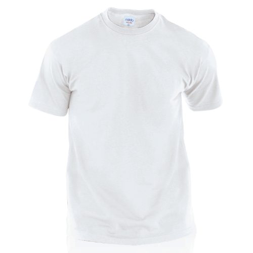 Adult White T-Shirt Hecom in white