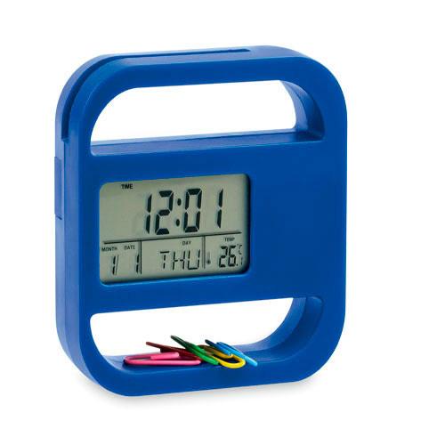 Desk Clock Soret in blue