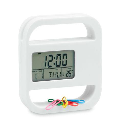 Desk Clock Soret in white