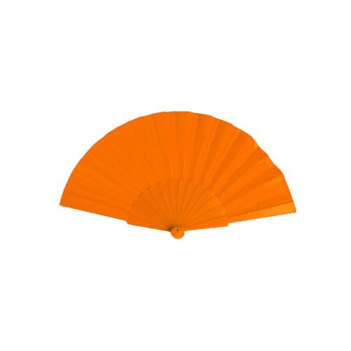 Hand Fan Tela in orange