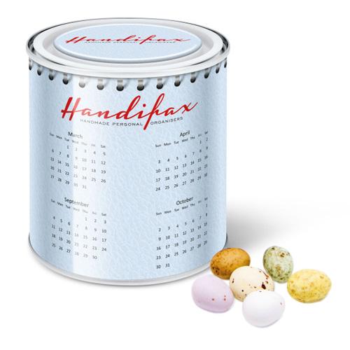 Calendar Tin Speckled Chocolate Eggs