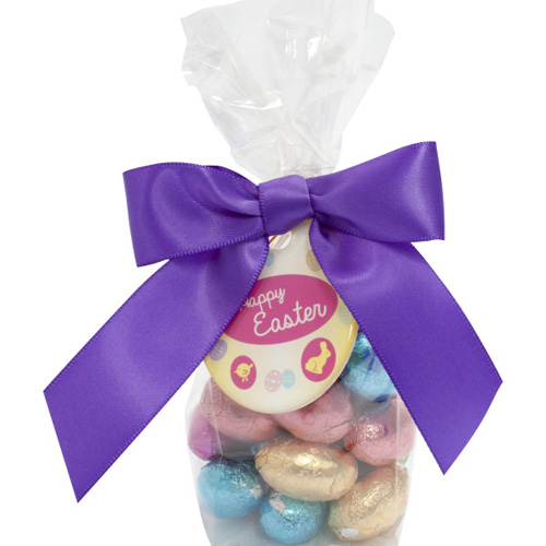 Swing Tag Bag Foil Wrapped Chocolate Eggs