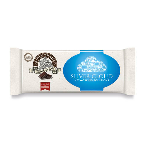 Fairly Traded Chocolate Bar Flow wrapped Paper Label