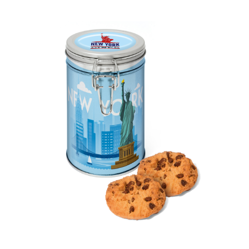 Flip Top Tin Silver Choc Chip Cookies