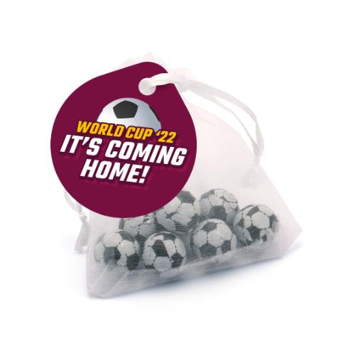 Organza Bag Chocolate Footballs