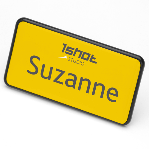 ID Badge 70 mm x 36 mm magnet