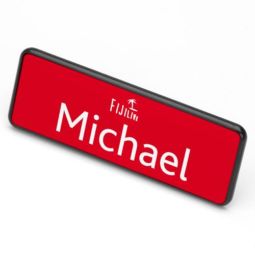 ID Badge 76 mm x 25 mm magnet