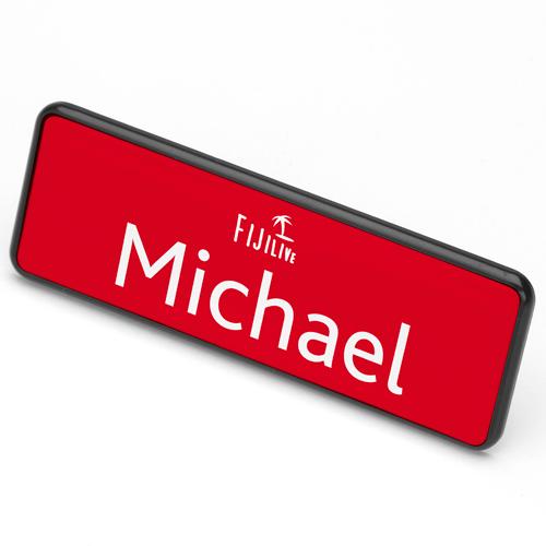 ID Badge 76 mm x 25 mm pin