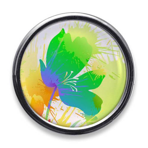 Lapel Pins Large circle Chrome