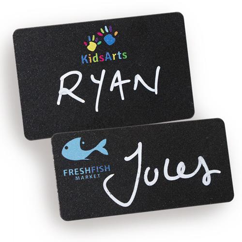 Reusable Blackboard Name Badges