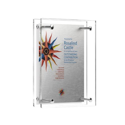 Acrylic Pillar Award 7x9 inch