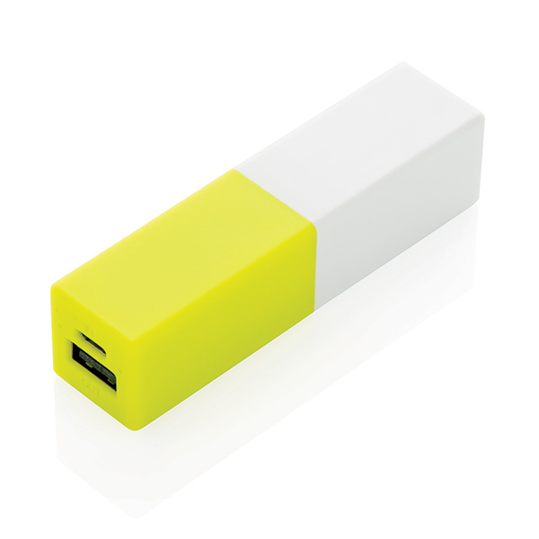 2200 mAh fashion powerbank, lime