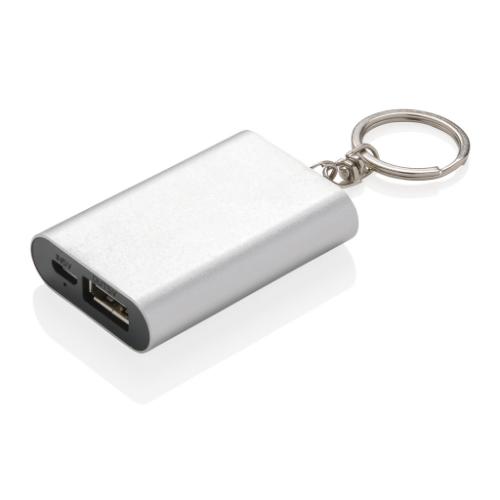 Keychain Powerbank, Silver