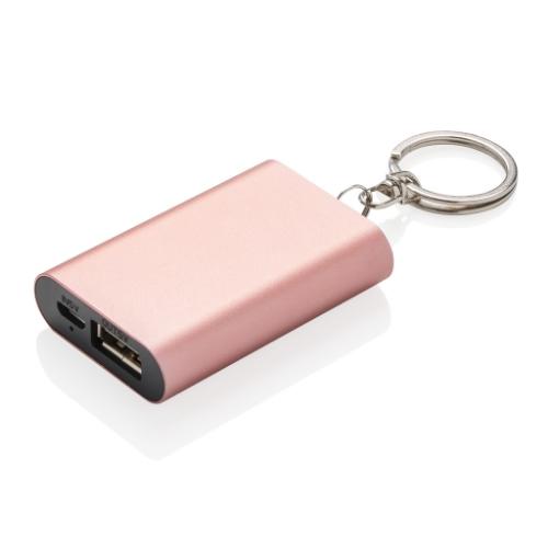 Keychain Powerbank, Rose Gold