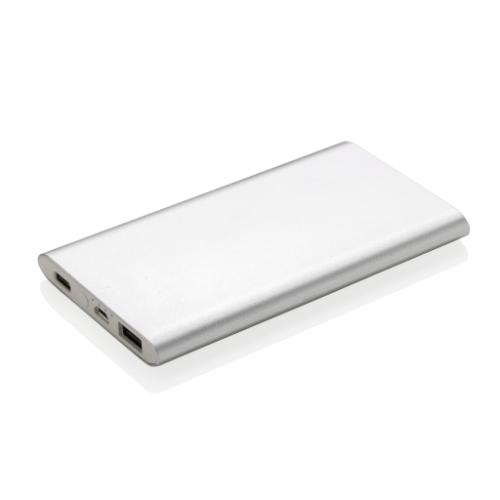 4.000 mAh type C powerbank, silver