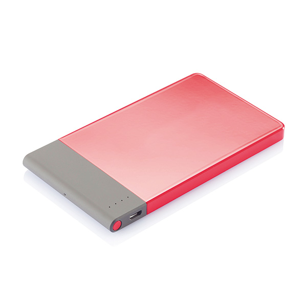 4.600 mAh thin powerbank, red