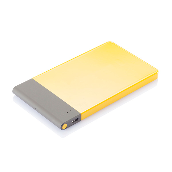 4.600 mAh thin powerbank, yellow