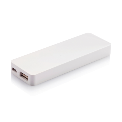 2.500 mAh powerbank, white