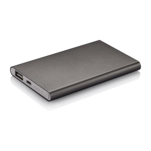 4.000 mAh slim powerbank, grey/white