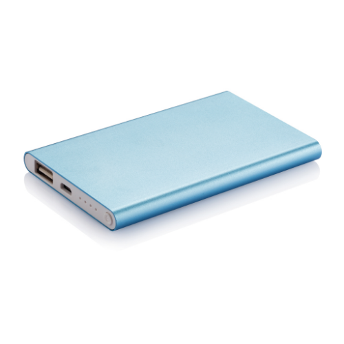 4.000 mAh slim powerbank, blue/white