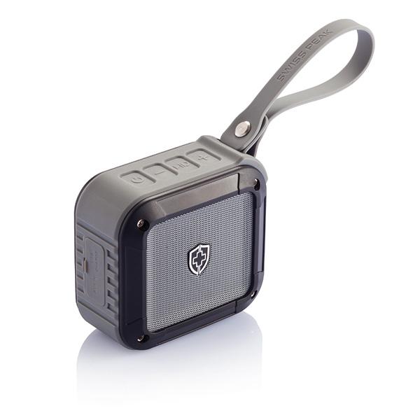 Swiss Peak outdoor Bluetooth speaker, black/grey