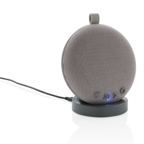 Wireless charging and speaker base with USB