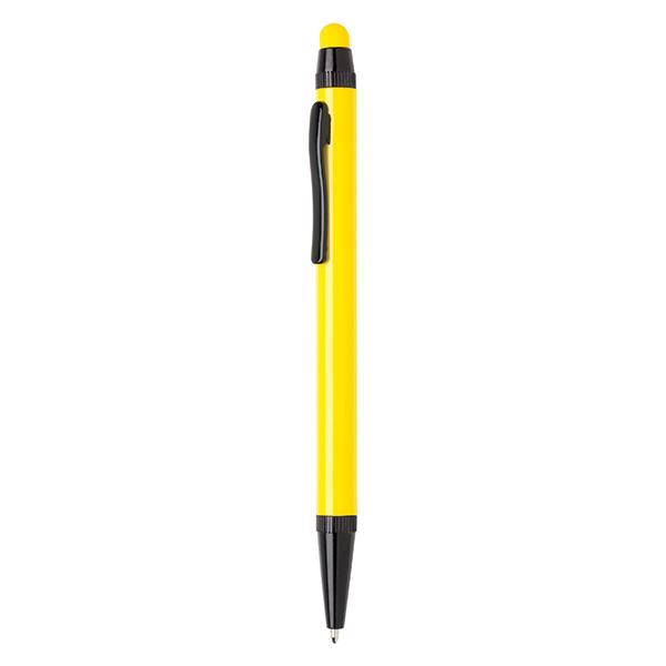 Aluminium slim stylus pen, yellow