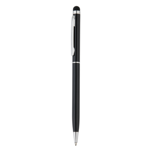Thin metal stylus pen, black