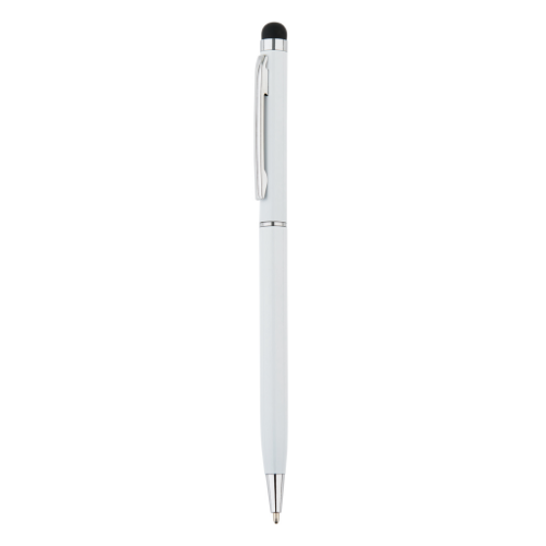 Thin metal stylus pen, white