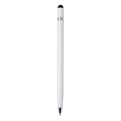Simplistic metal pen, white