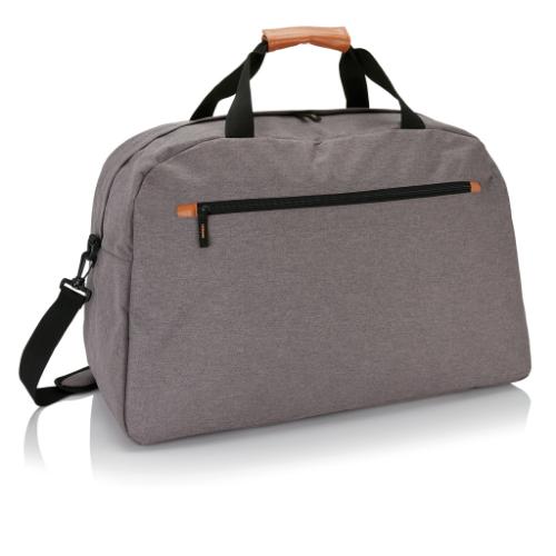 Fashion duo tone travel bag, grey