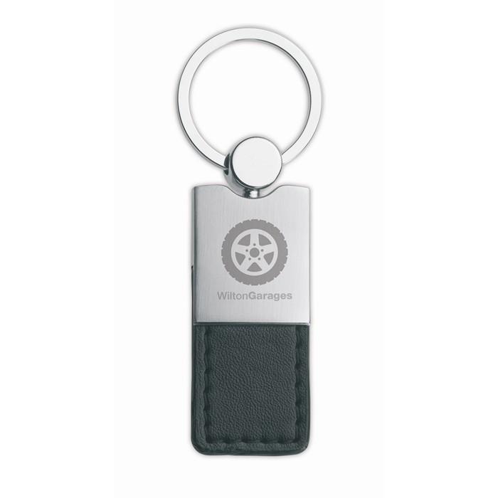 Printed PU and metal key ring