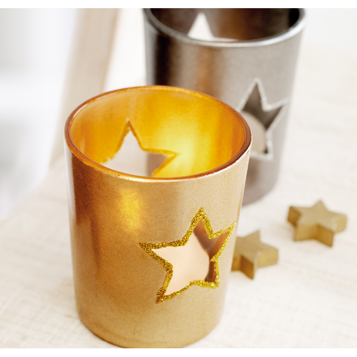 Personalised Candle holder with tealight