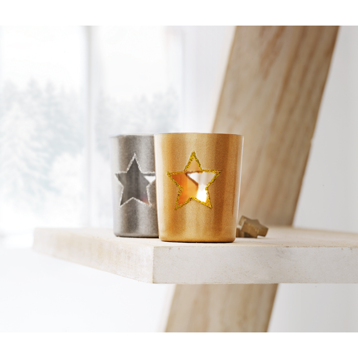 ImPrinted Candle holder with tealight