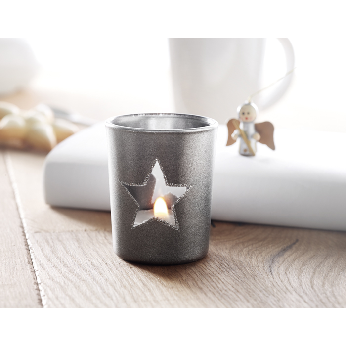Engraved Candle holder with tealight