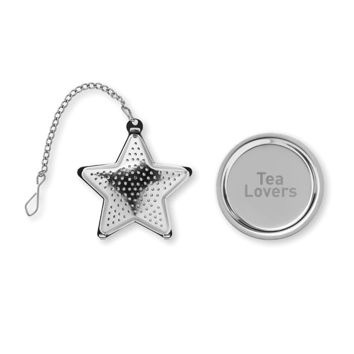 Personalised Tea filter in star shape