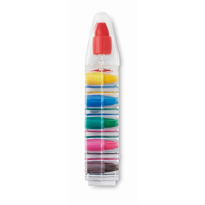 Branded Set of 6 wax crayons